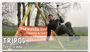 Normandie Events TriPod Tyrolienne Accueil