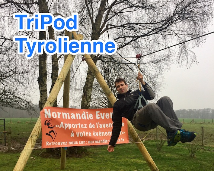 Normandie events TriPod Tyrolienne