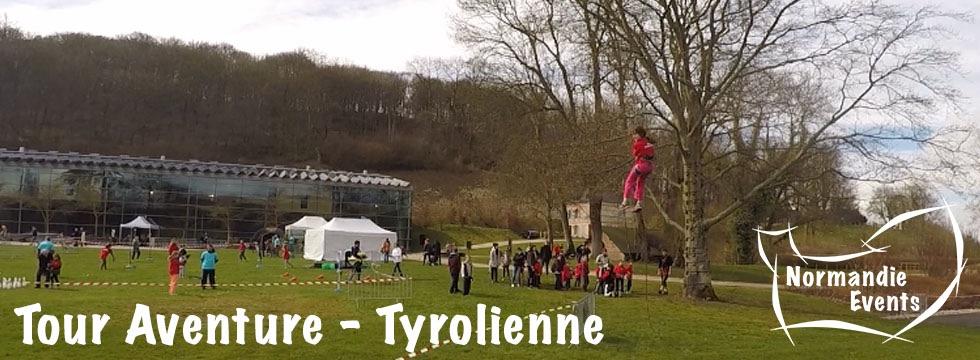 Accueil Tour Aventure - Tyrolienne